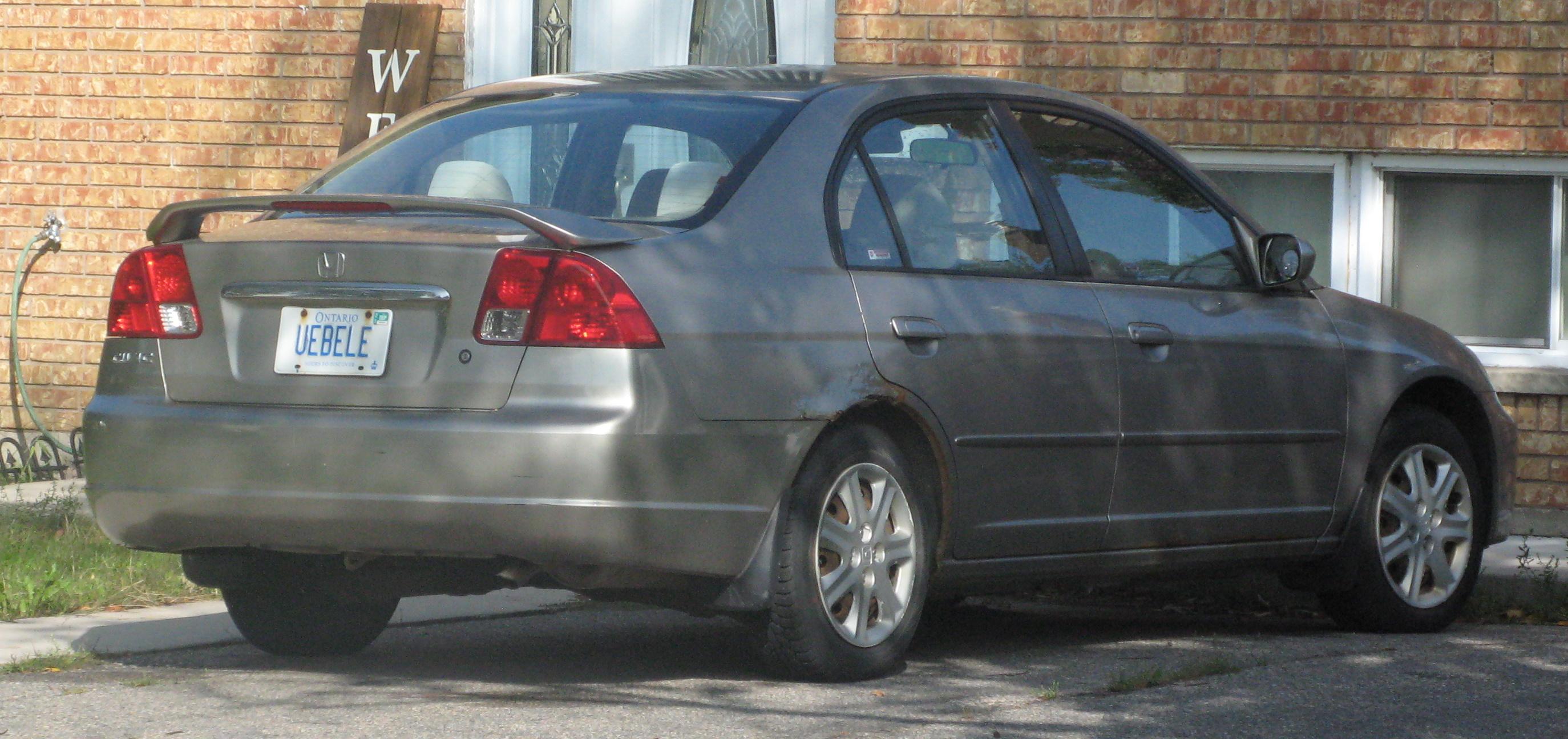 https commons wikimedia org wiki file 2003 honda civic lx rear right 09 14 2020 jpg