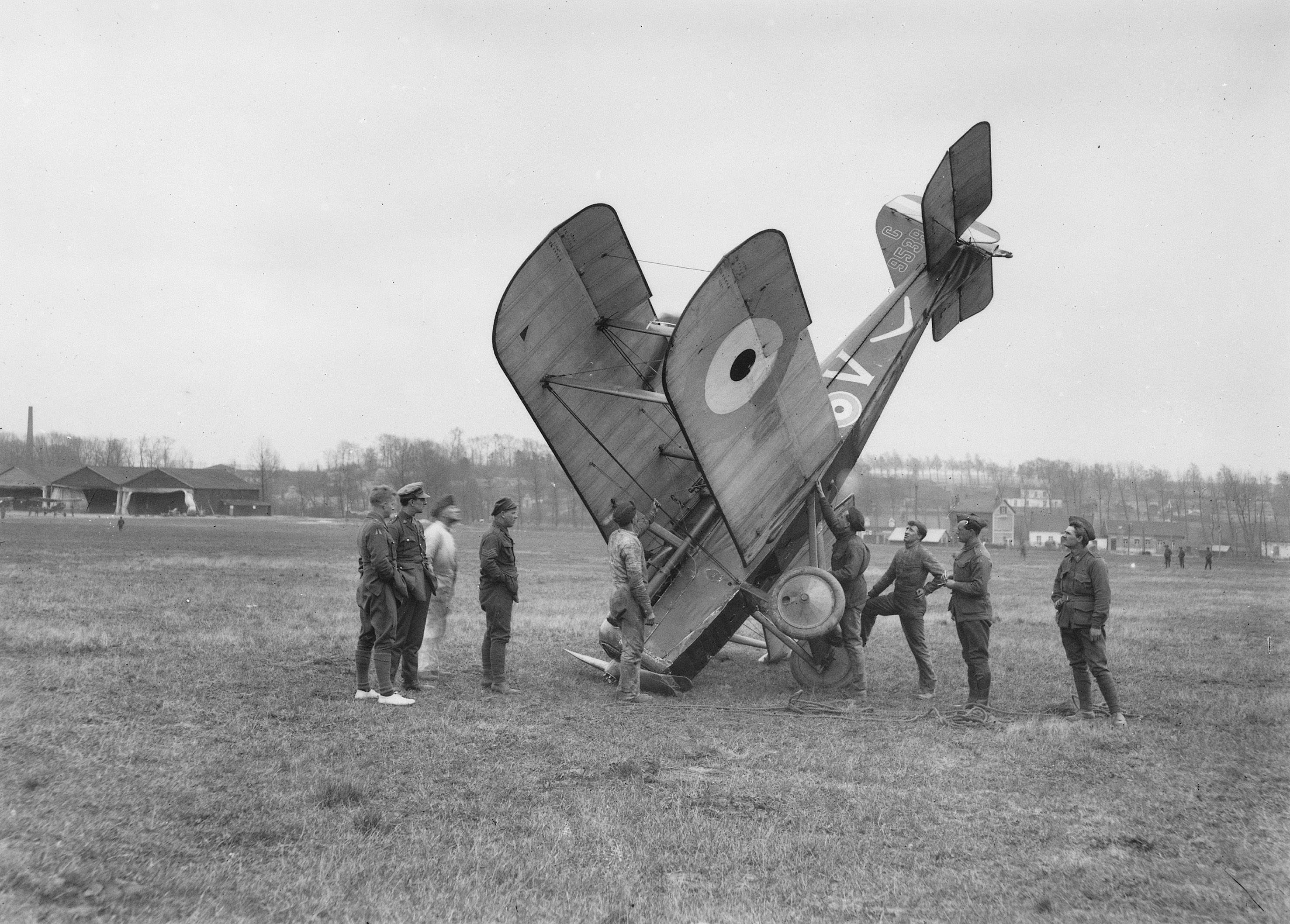 File An Accident On Savy Aerodrome During The German