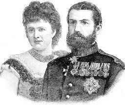 English: King Carol I & Queen Elizabeth of Rom...