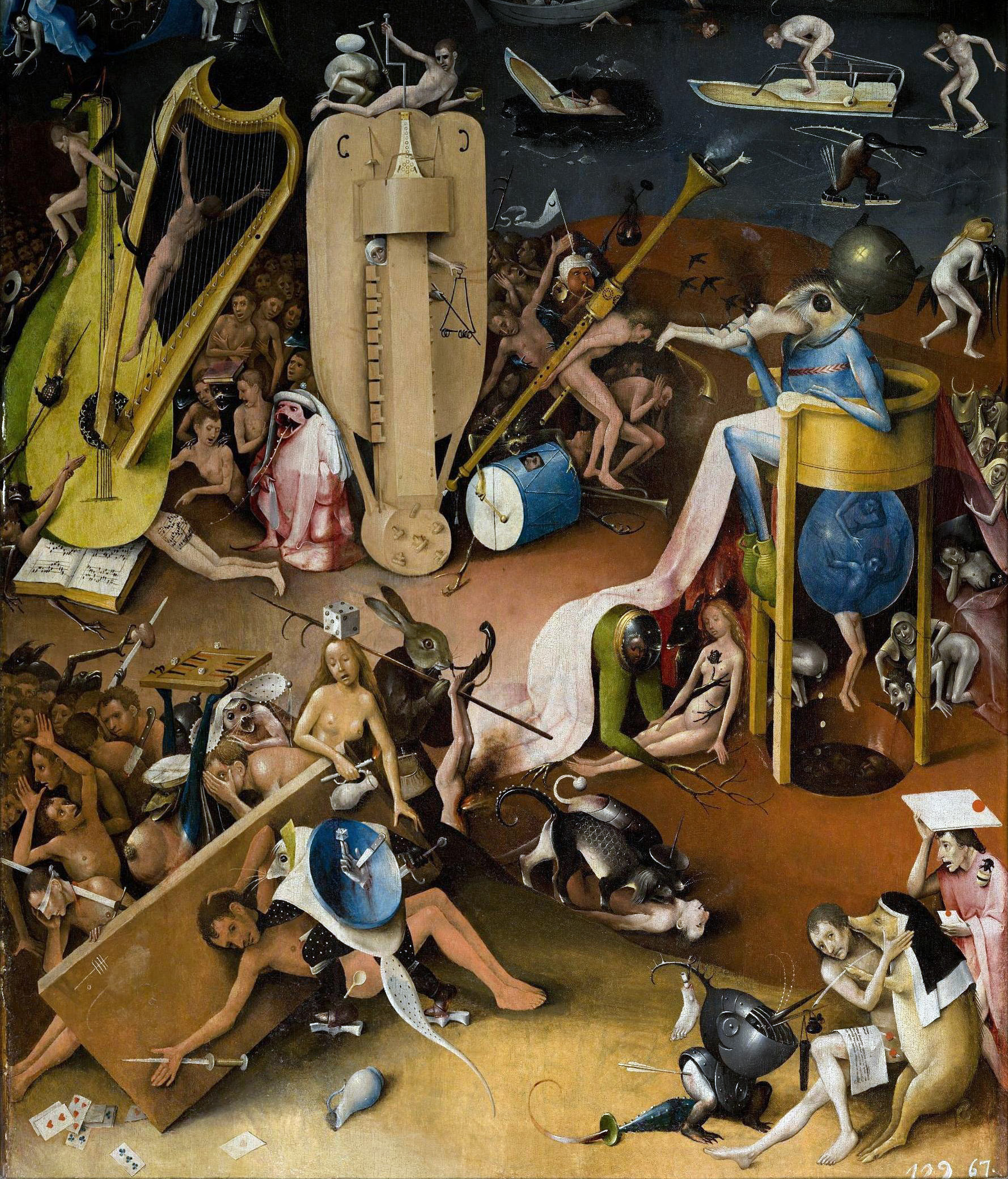 Hieronymus Bosch: detail from The Garden of Earthly Delights