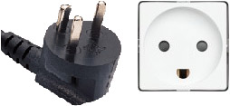 K type power plug and wall outlet. See Talk:Ma...