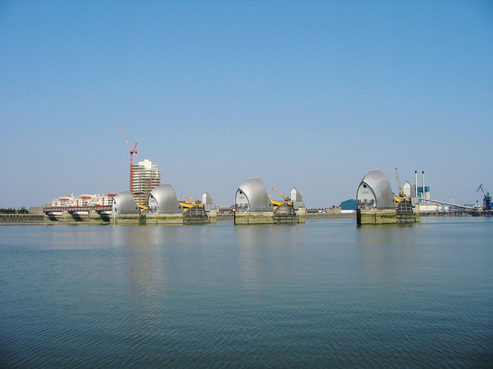 The Thames Flood Barrier in 2005