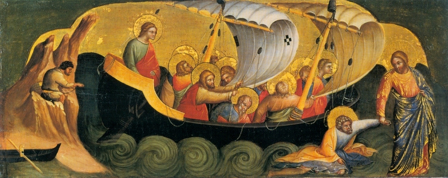 Christ Rescuing Peter from Drowning by Lorenzo Veneziano, 1370