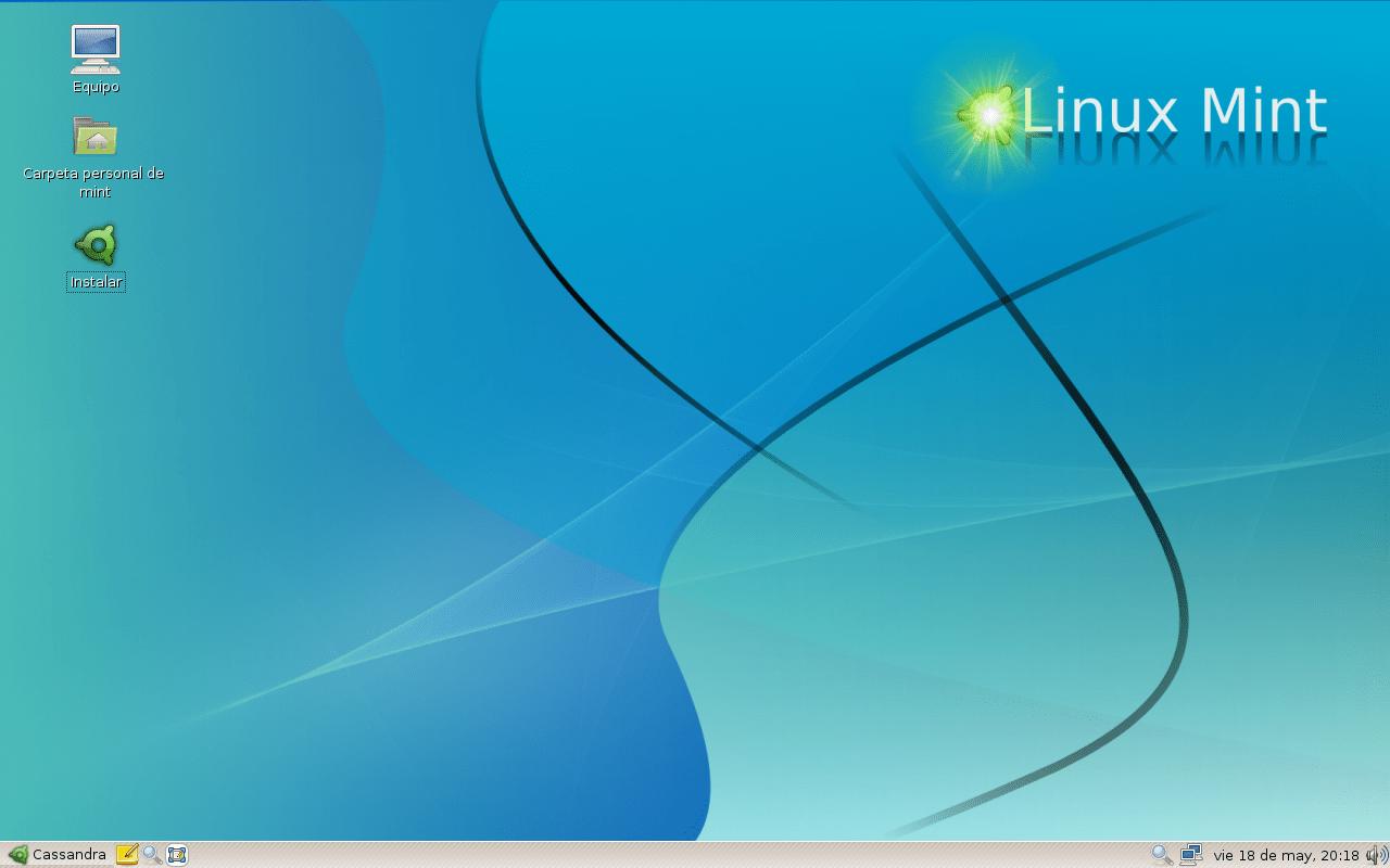 """Captura de la distribución Linux llamada """"..."""