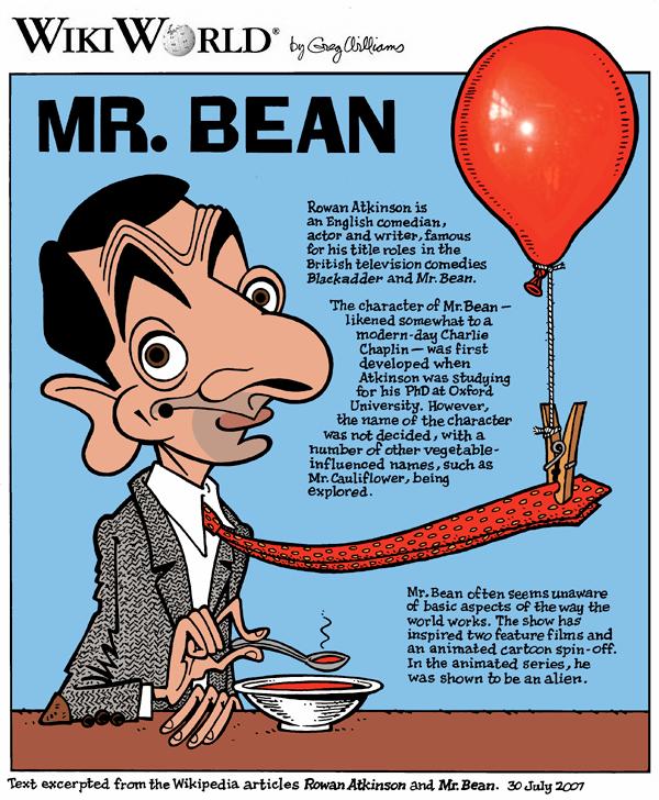 mr bean wikiworld comics by greg williams