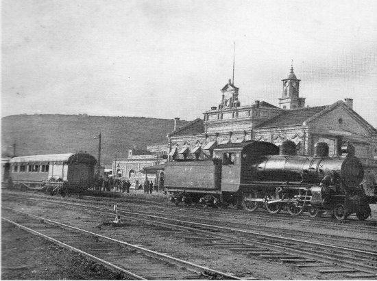 Здание станции Хиджазской железной дороги в Хайфе, 1931 год