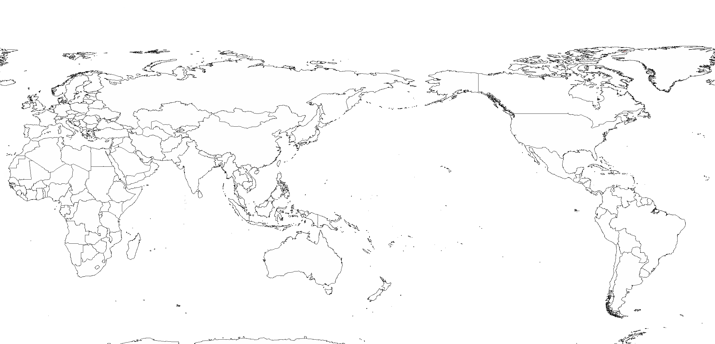 Blank Map Pacific