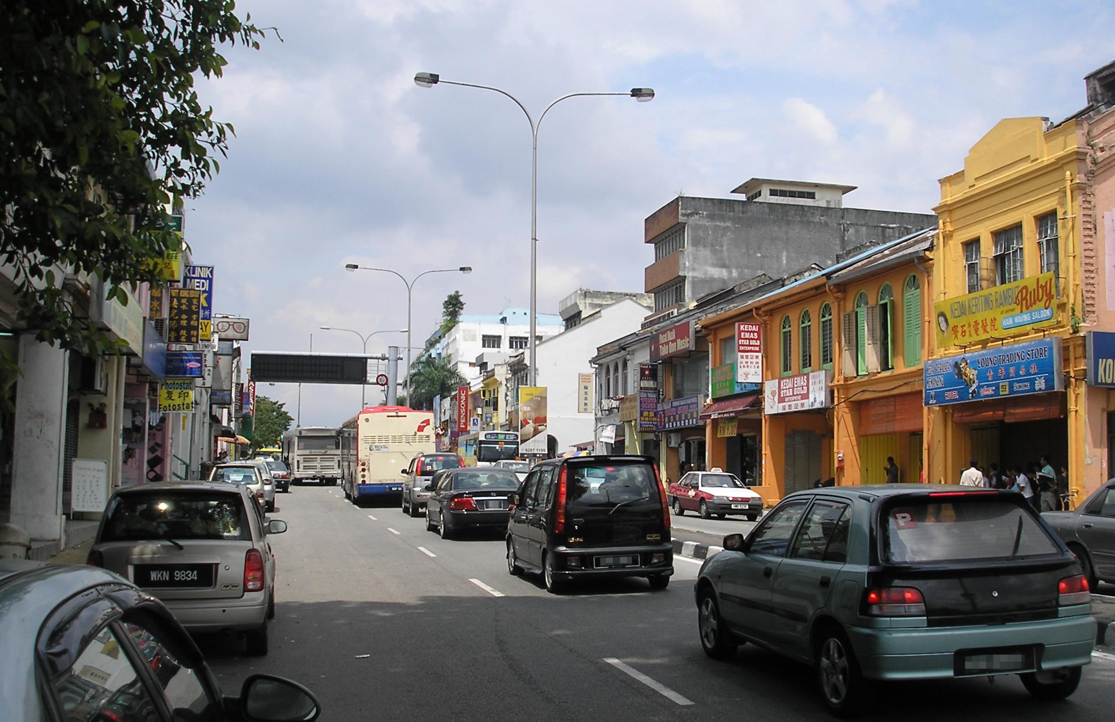 The main street (Jalan Pudu) of Pudu, Kuala Lu...