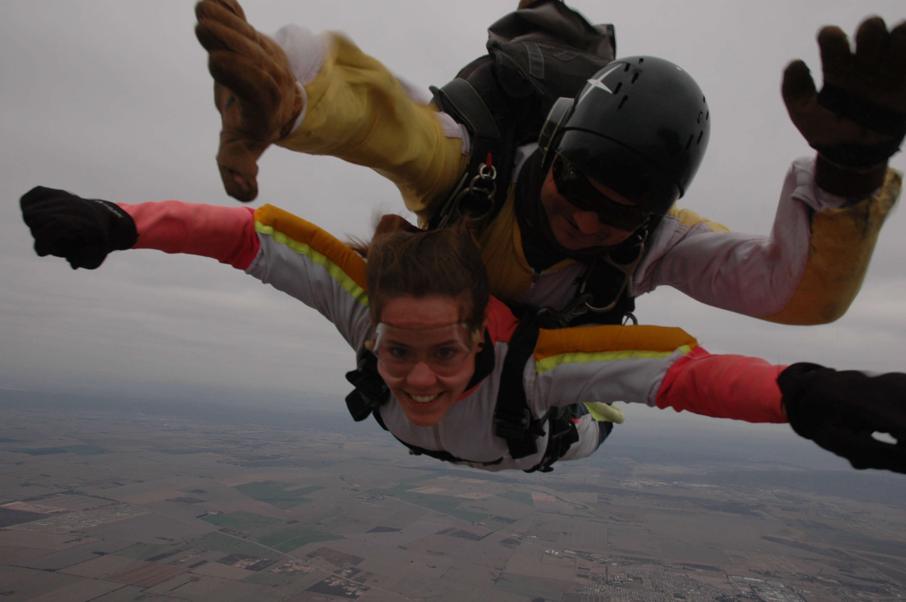 English: tandem sky-diving in Cordoba, Argentina