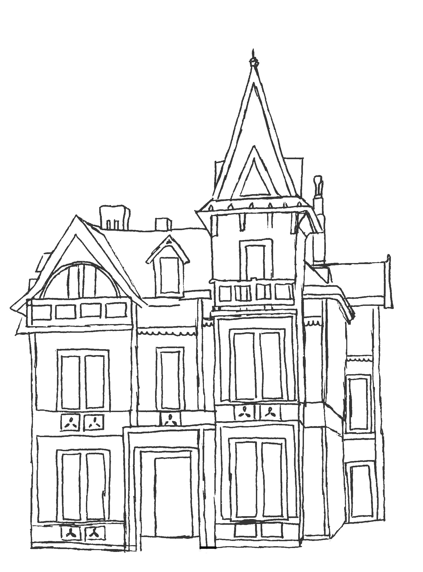 File George Stone House Sketch
