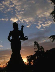 Statue de La Violetera dans le jardin des Vistillas.