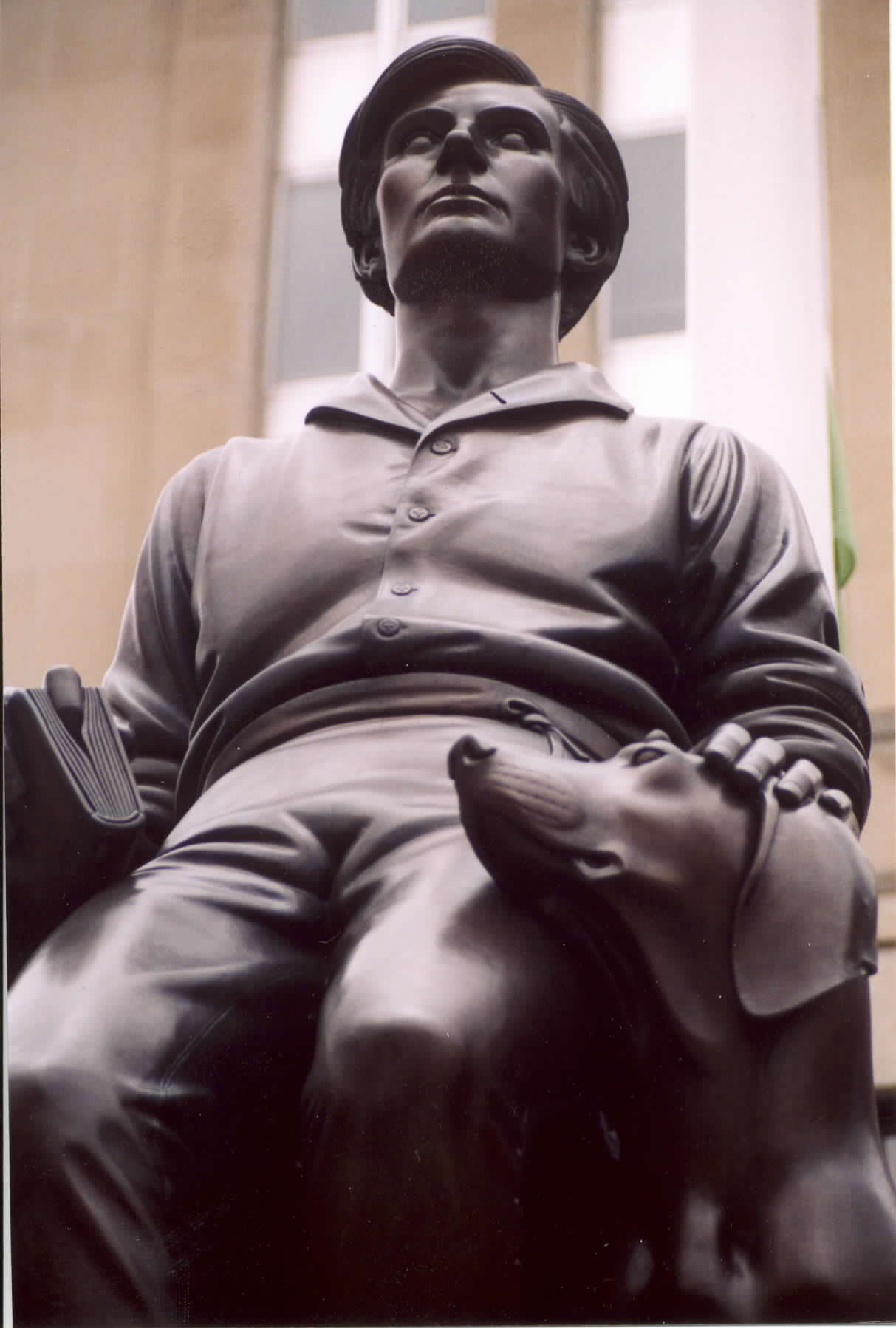 Paul Manships Hoosier Youth statue of Lincoln outside the Lincoln National Life offices in Ft. Wayne