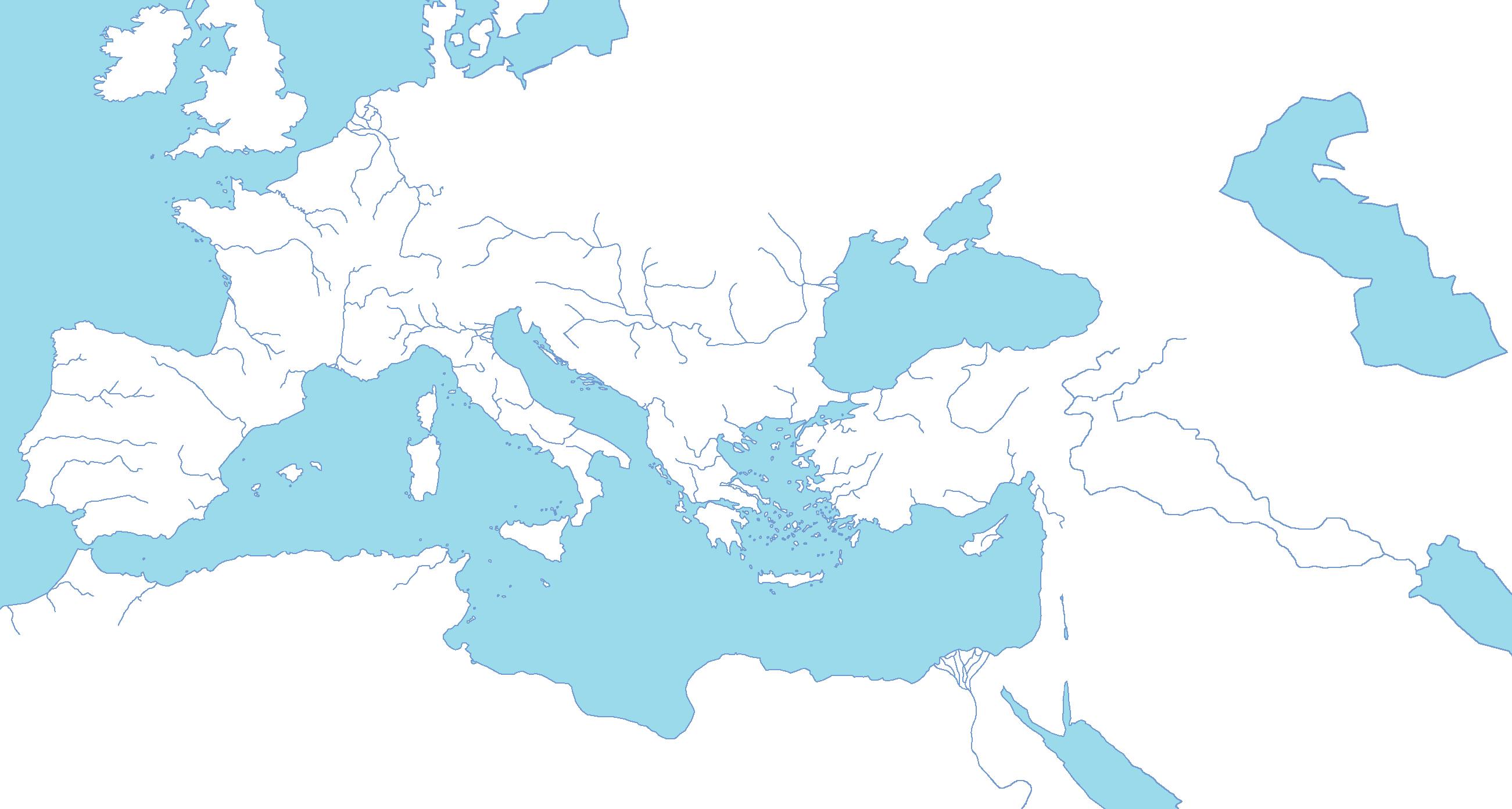 Blank Map Mediterranean