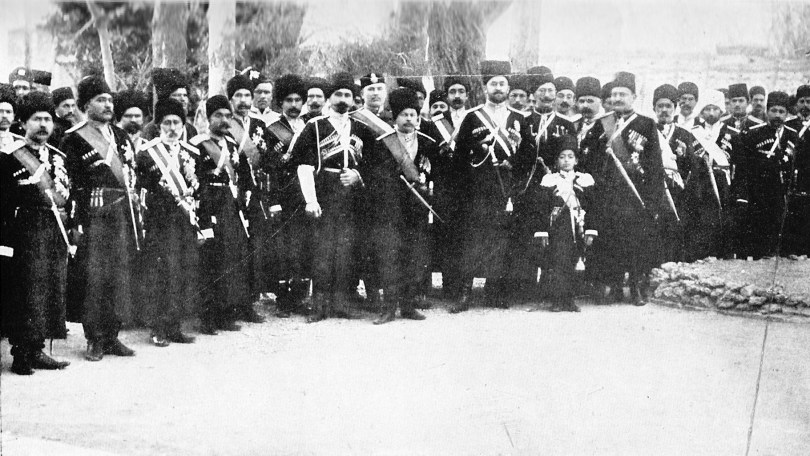 Persian Cossak calvary group photo from 1909.