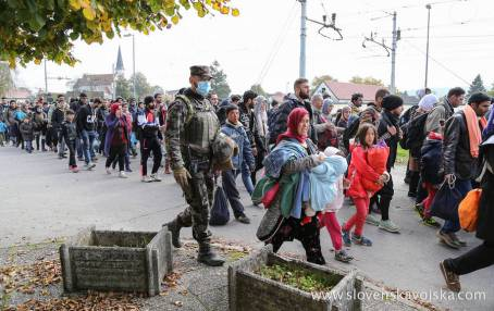 Image result for refugees slovenia