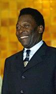 The former Brazilian soccer player Pelé