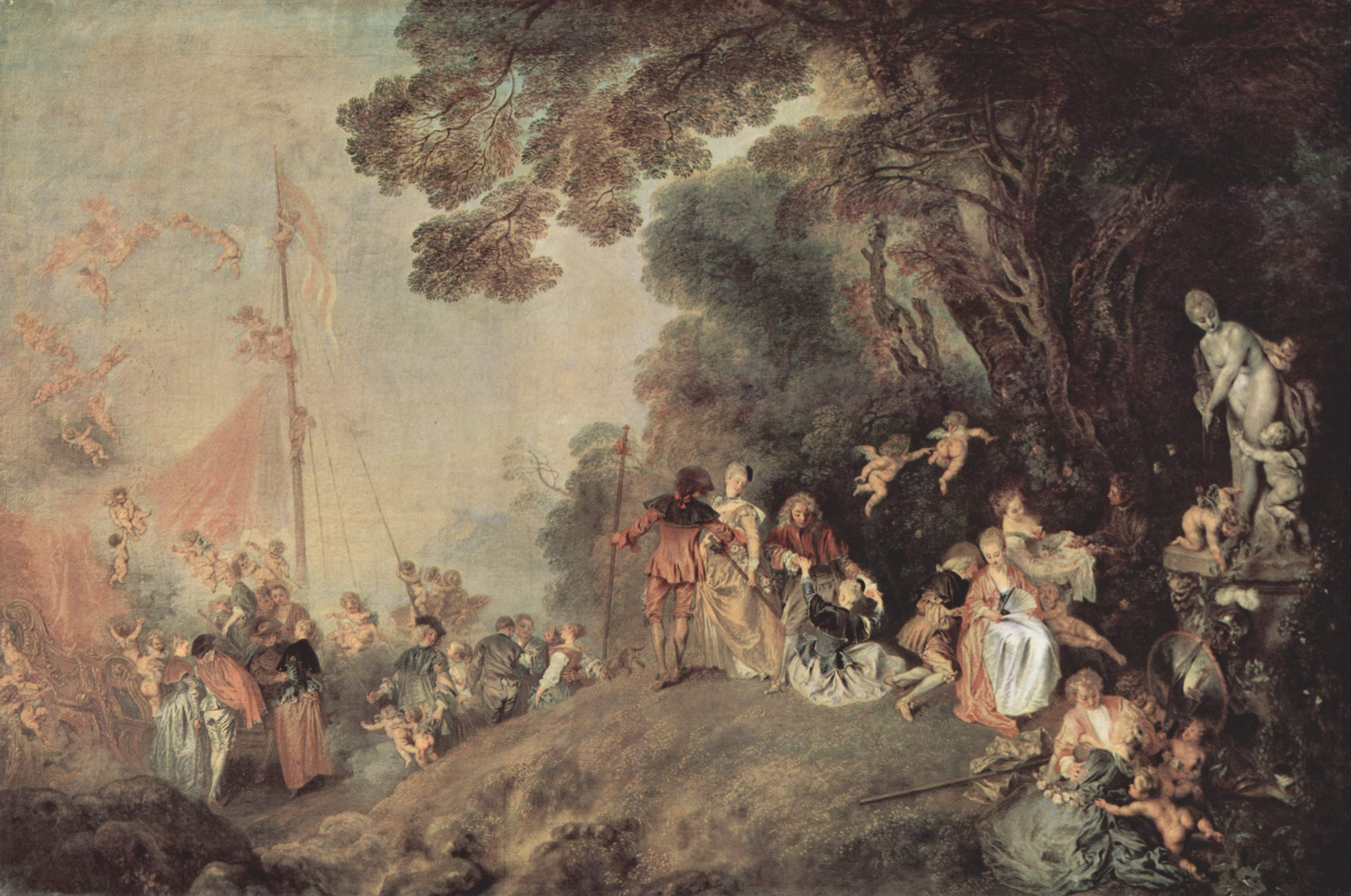 Embarkation for Cythera. Antoine Watteau (1684-1721).