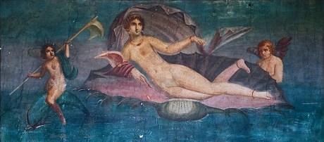 Afrodite Anadyomene – fresco da Casa de Vénus, Pompeia, séc I aC, segundo cópia de pintura do famoso pintor grego Apeles