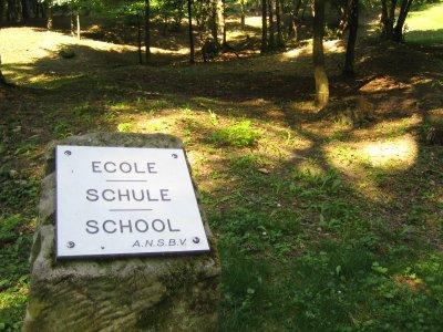 Fleury destroyed village school