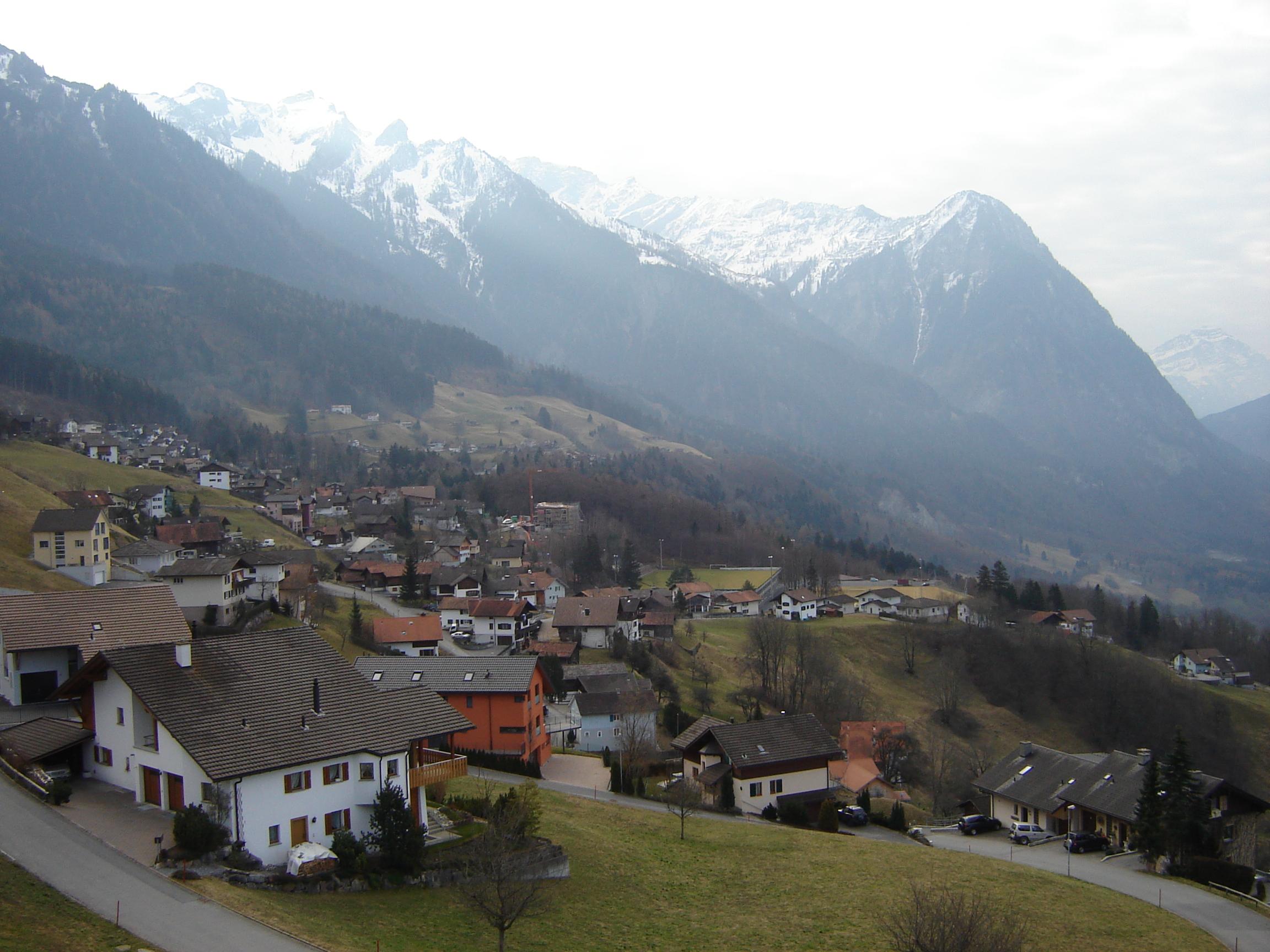 Impressive scenery in Liechtenstein, Europe.