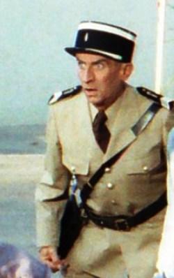 Français : Louis de Funès lors du tournage de ...