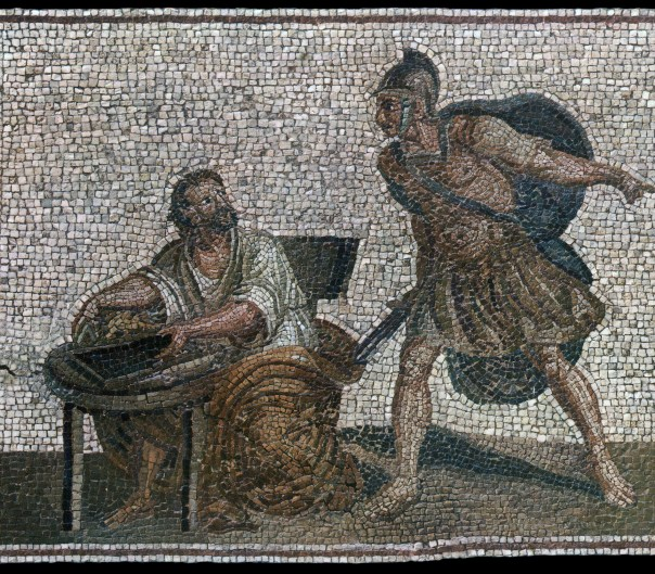 A Roman mosaic describing Archimedes' death - Curious Minds Podcast