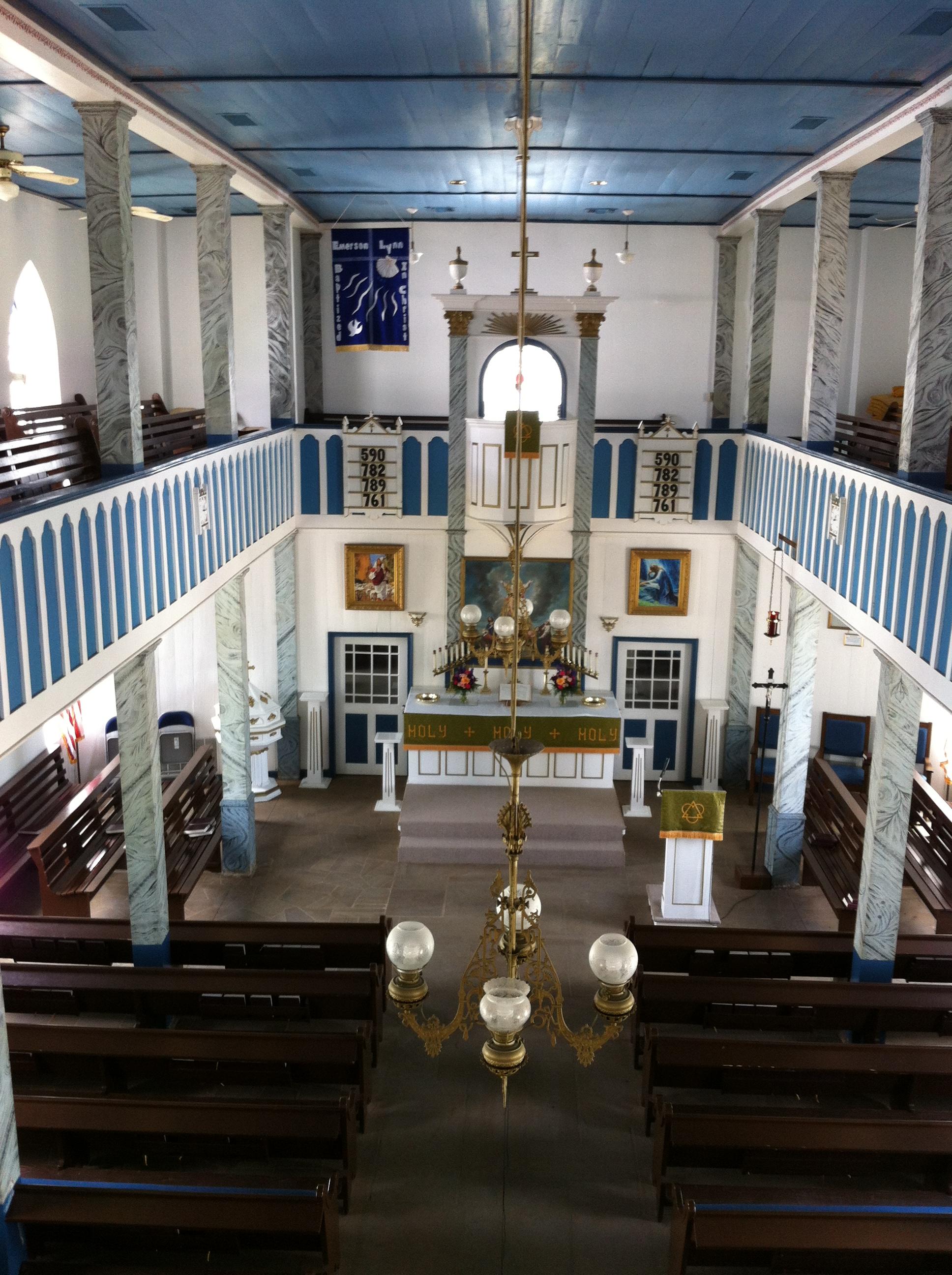 File Interior Of St Paul Lutheran Church Serbin Tx Jpg