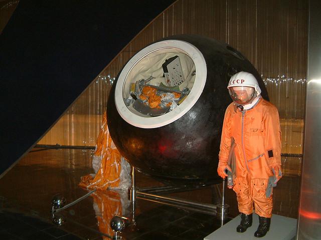 File:Yuri Gagarin Capsule and space suit.jpg