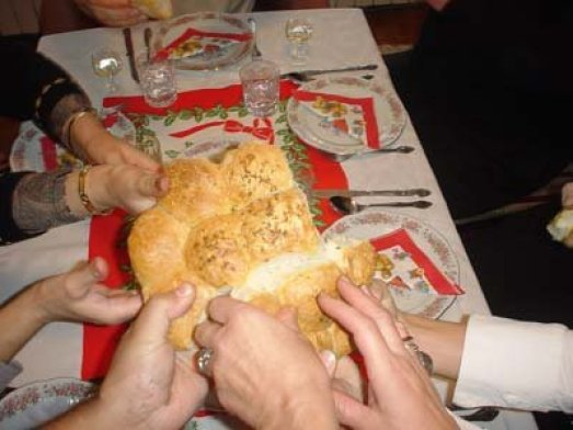 Serbian Eastern Orthodox bread offerings