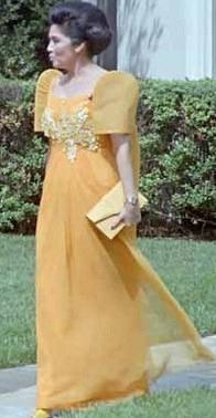 English: Imelda Marcos during a state visit ou...