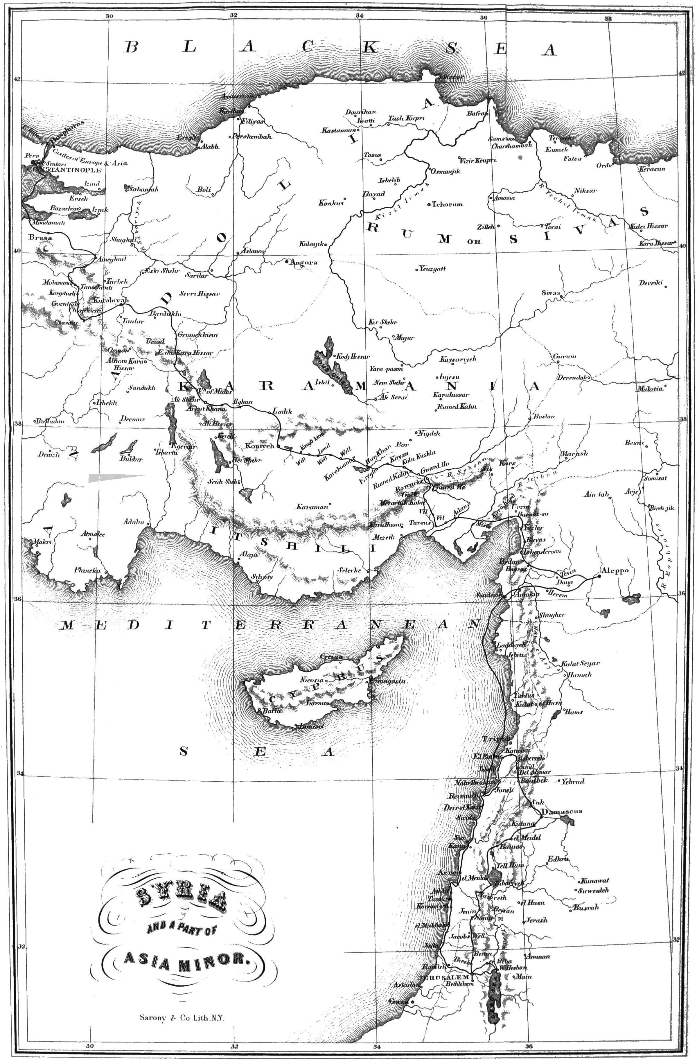 First Century Asia Minor Map