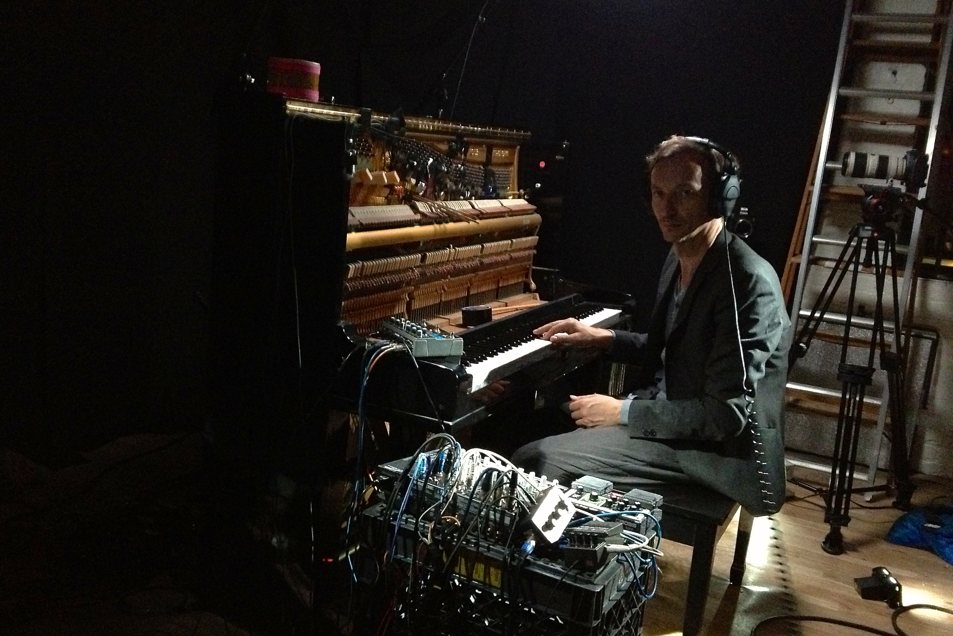 Piano player Volker Bertelmann, aka Hauschka.