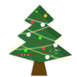 A Christmas tree icon