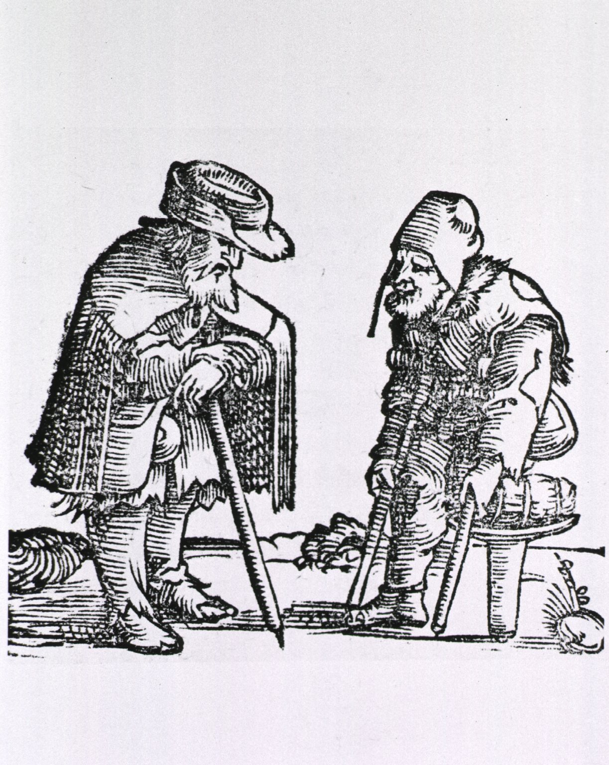 File Old Man With Cane Meets Old Man With One Leg