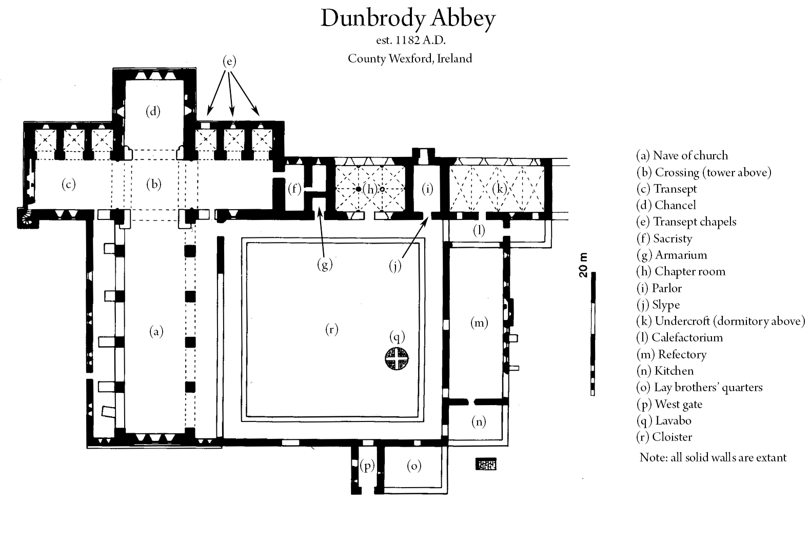 File Plan Of Dunbrody Abbey In Wexford Ireland
