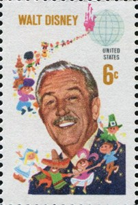 US postage stamp of 1968 depicting Walt Disney