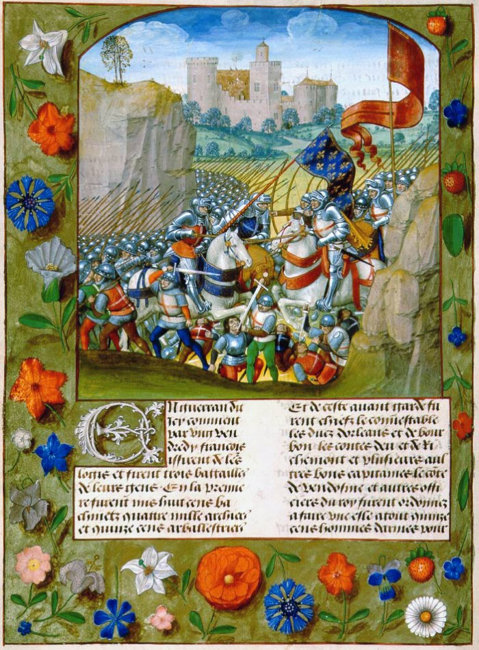 Image result for battle of agincourt illumination