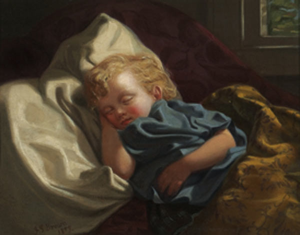 File:John George Brown - Sleeping angel.jpg