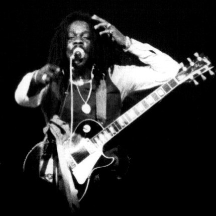English: Reggae Singer Dennis Brown in Paris, ...