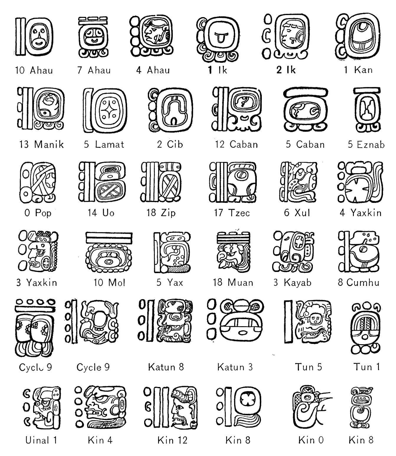 Mayan Calendar Date Worksheet