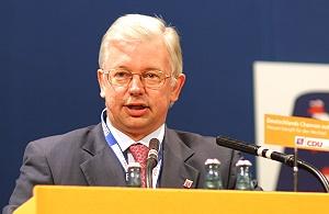 Roland Koch, Hessischer Ministerpräsident, auf...