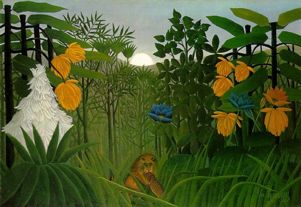 """""""The Repast of the Lion"""" by Henri Rousseau"""