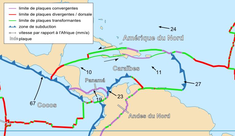 Map South Tectonic Plates America