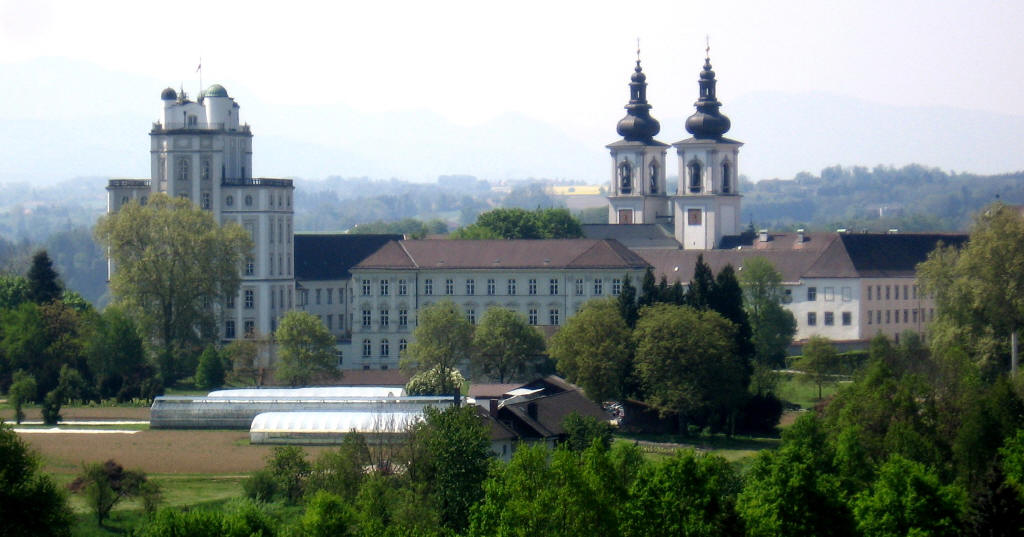 The modern Kremsmünster Abbey viewed from the North-East, from Wikimedia Commons