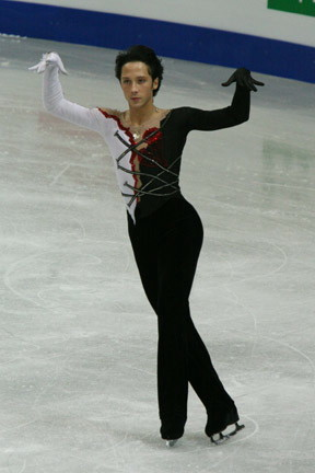 English: 2008 World Championships. Johnny Weir