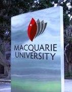 English: Macquarie University sign