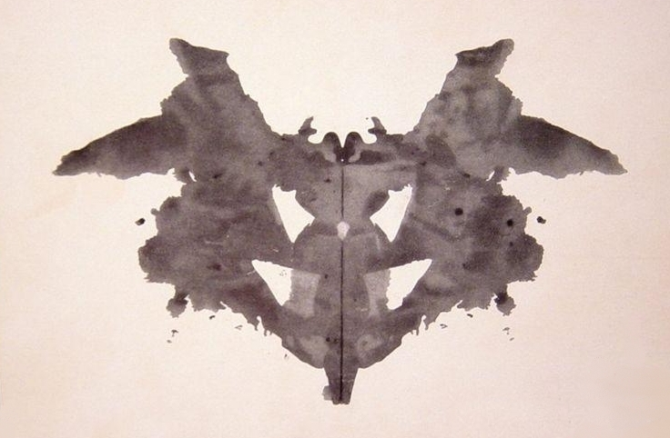 A sample rorschach ink test