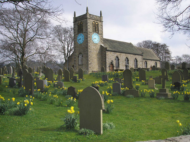 File:St. Peter's Church and churchyard, Addingham - geograph.org