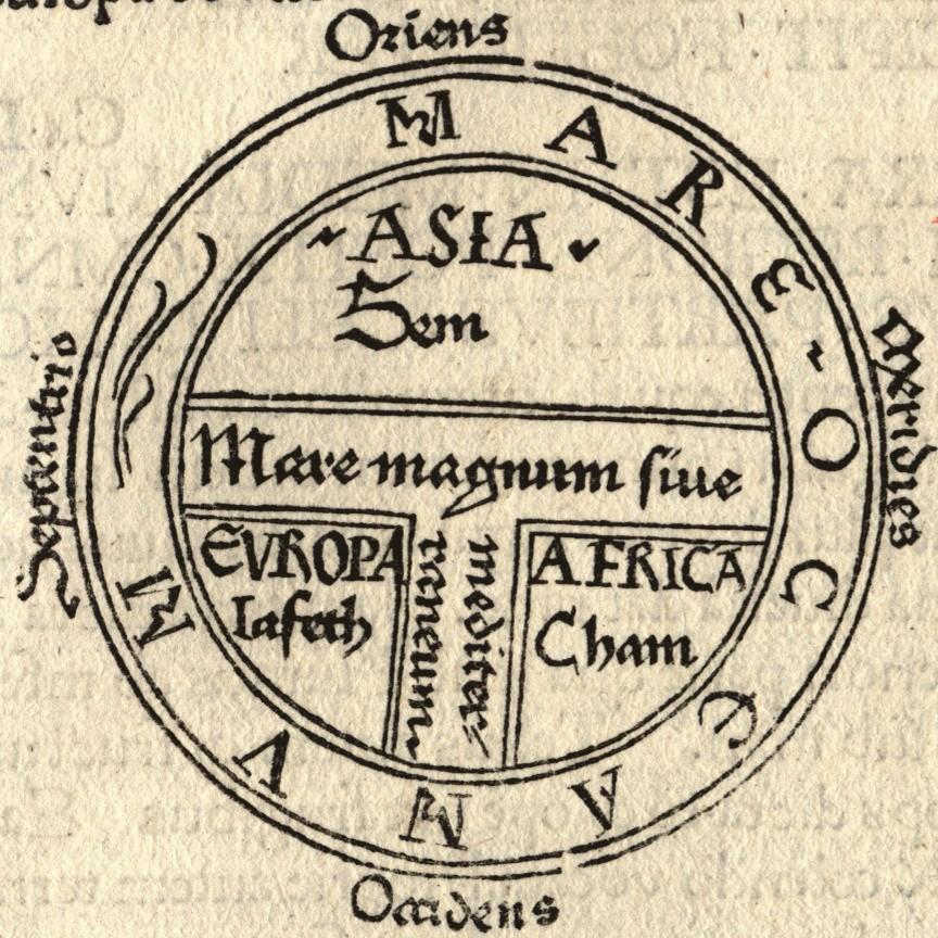 T-O Map (Guntherus Ziner, Augsburg, 1472)
