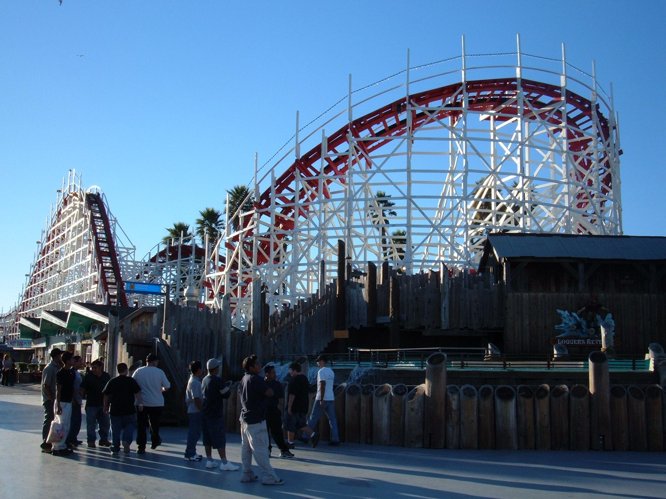 The Giant Dipper at the Santa Cruz Beach Board...